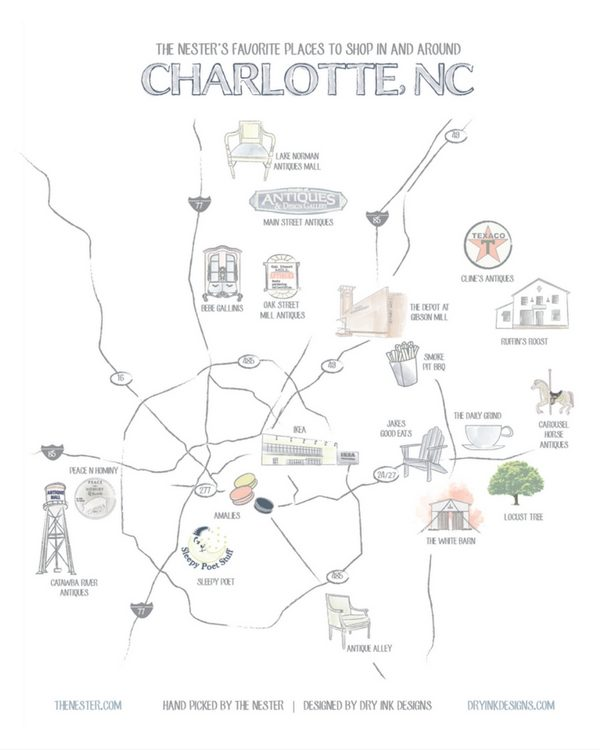 charlotte shopping map