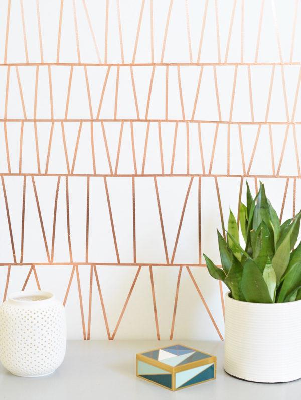 copper-tape-geometric-wall-treatment