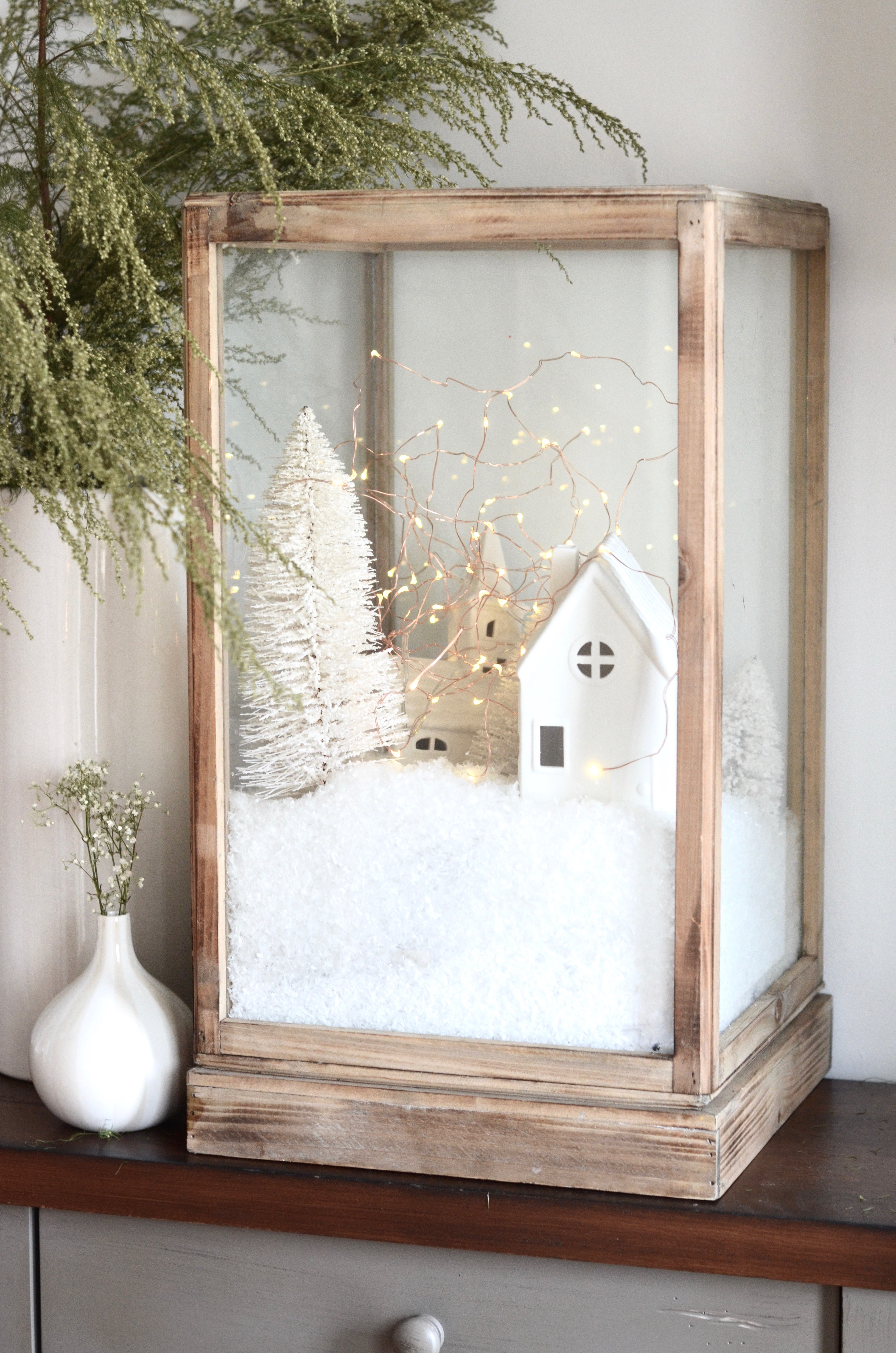 DIY Christmas Village for the Cozy Minimalist