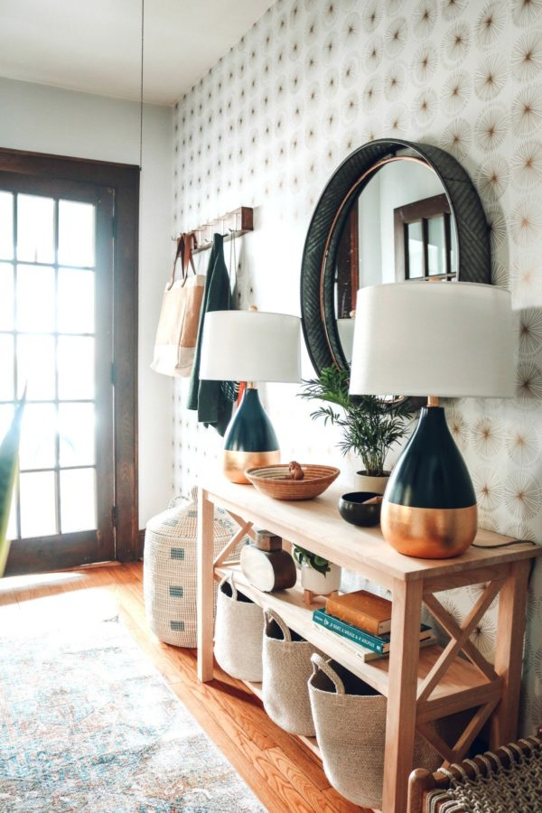 Entry Makeover with Removable Wallpaper // Nesting With Grace