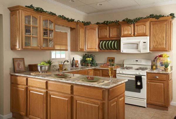weird decorating above kitchen cabinets