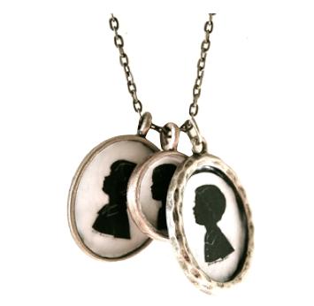 diy silhoutette necklace