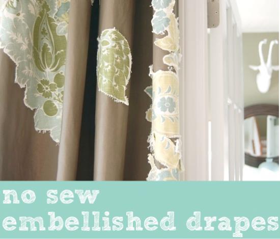 no sew embellished drapes