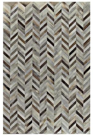 joss & main patchwork cowhide rug herringbone