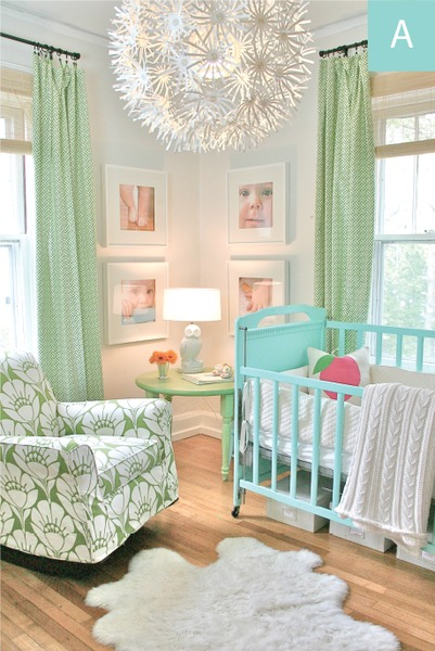 nursery funky light fixture