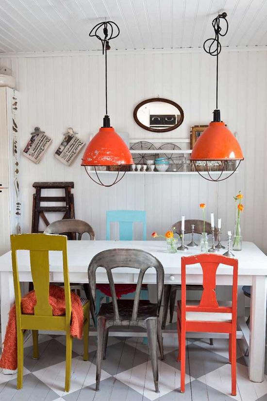 orange light fixture