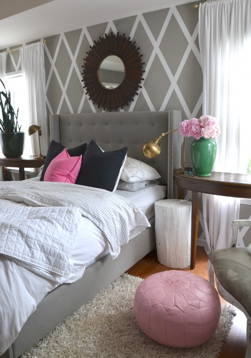 pink in the master bedroom