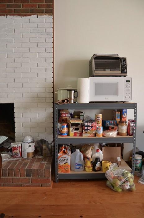 temporary kitchen