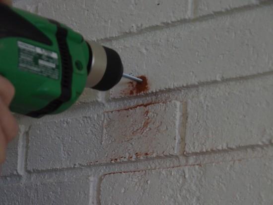 make a hole in brick