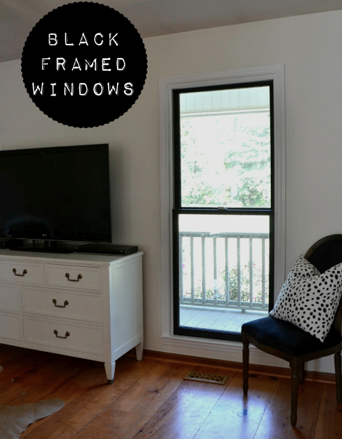 DIY black framed windows