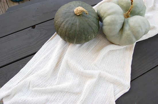 blue green pumpkins