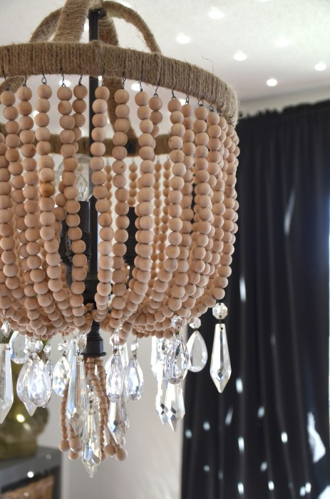 beaded crystal chandelier wood beads