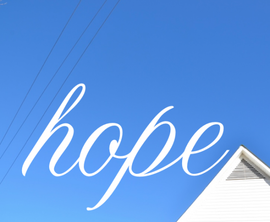 hope. on a wire