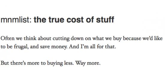 true cost of stuff