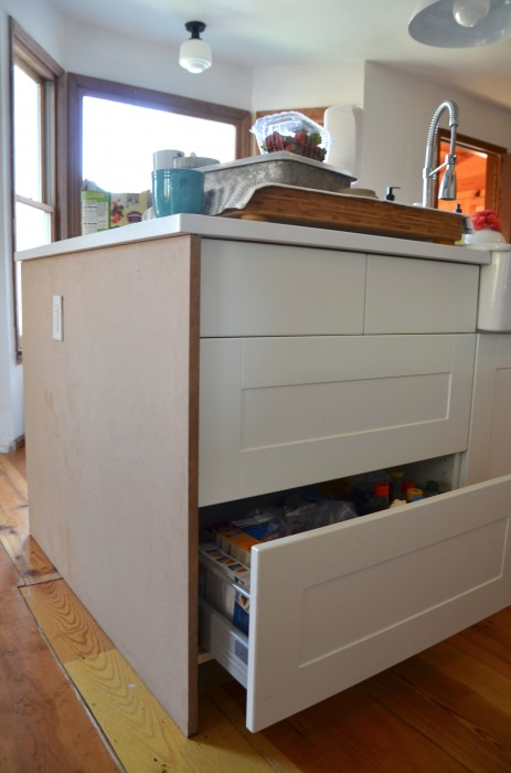 how to finish the ends of a kitchen island