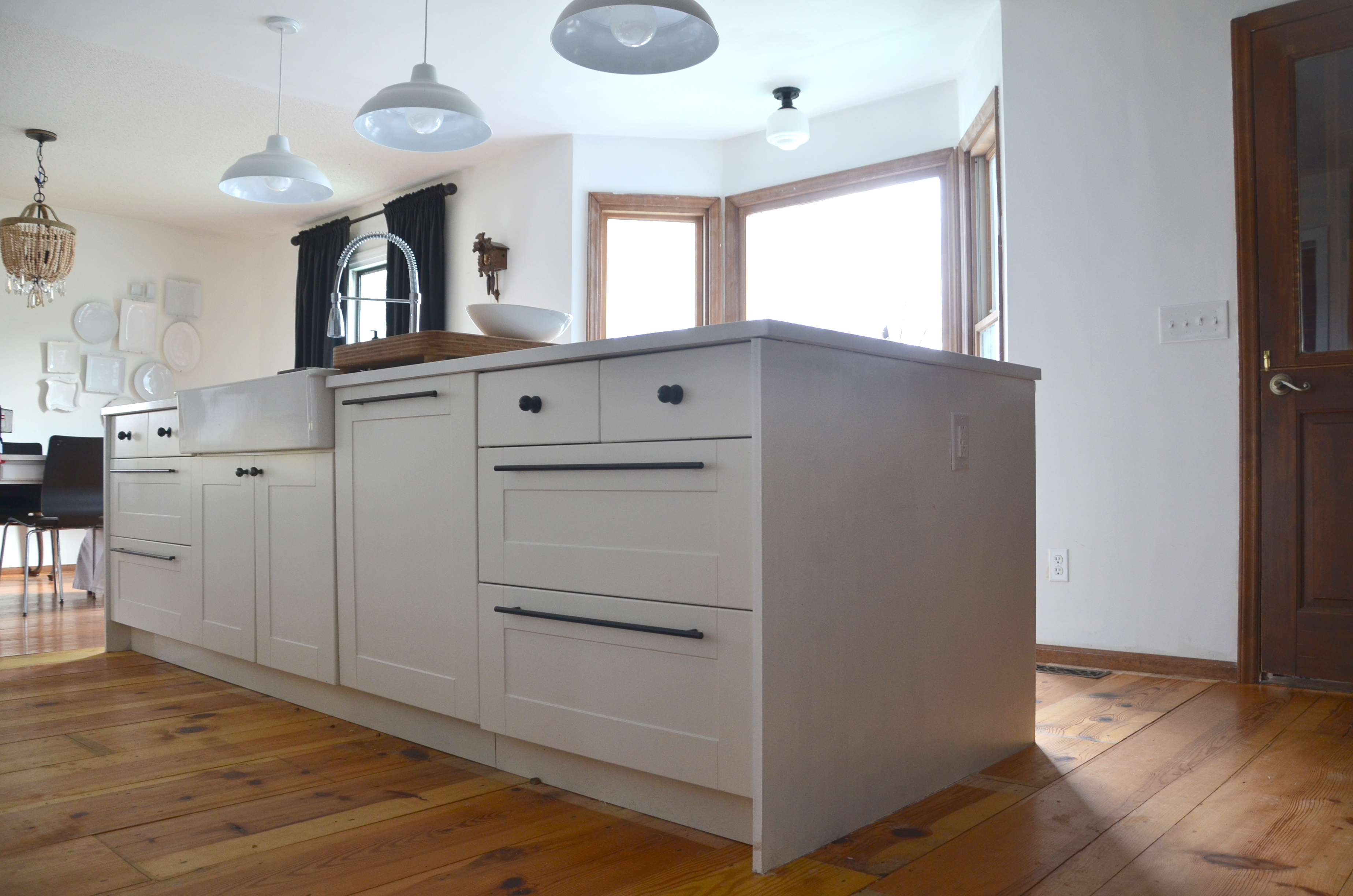 How To Fake A Kitchen Island Waterfall Edge Nesting Place