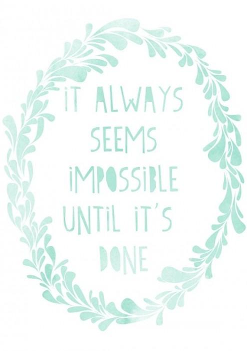 until it's done