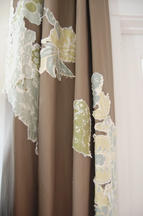 embellished drapes