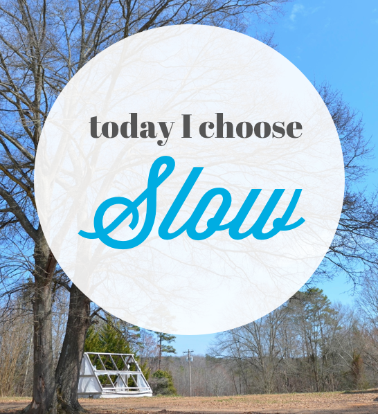 choose slow today