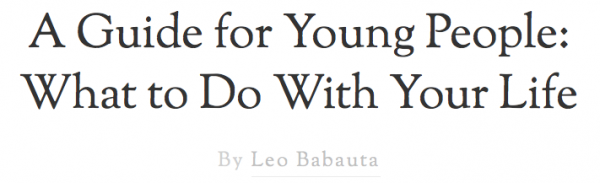 a guide for young people