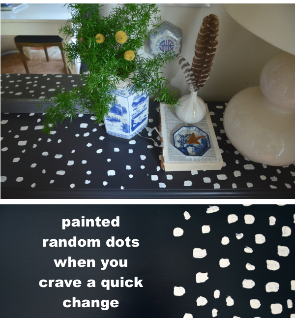 diy spotted table