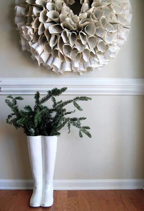 boots and wreath