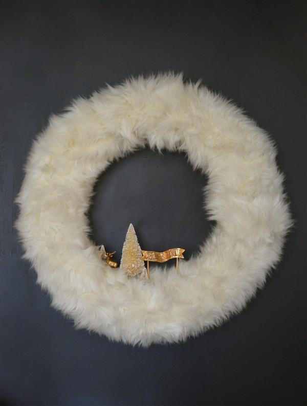 fur wreath