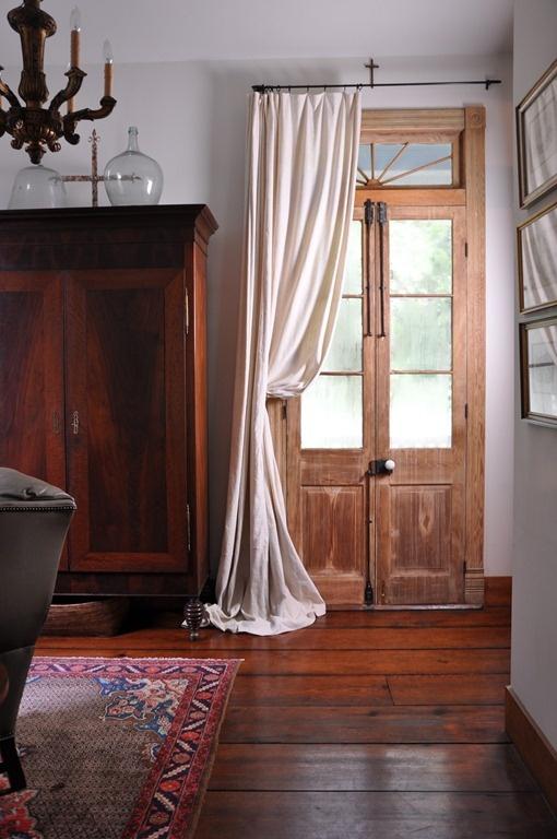 front door draped
