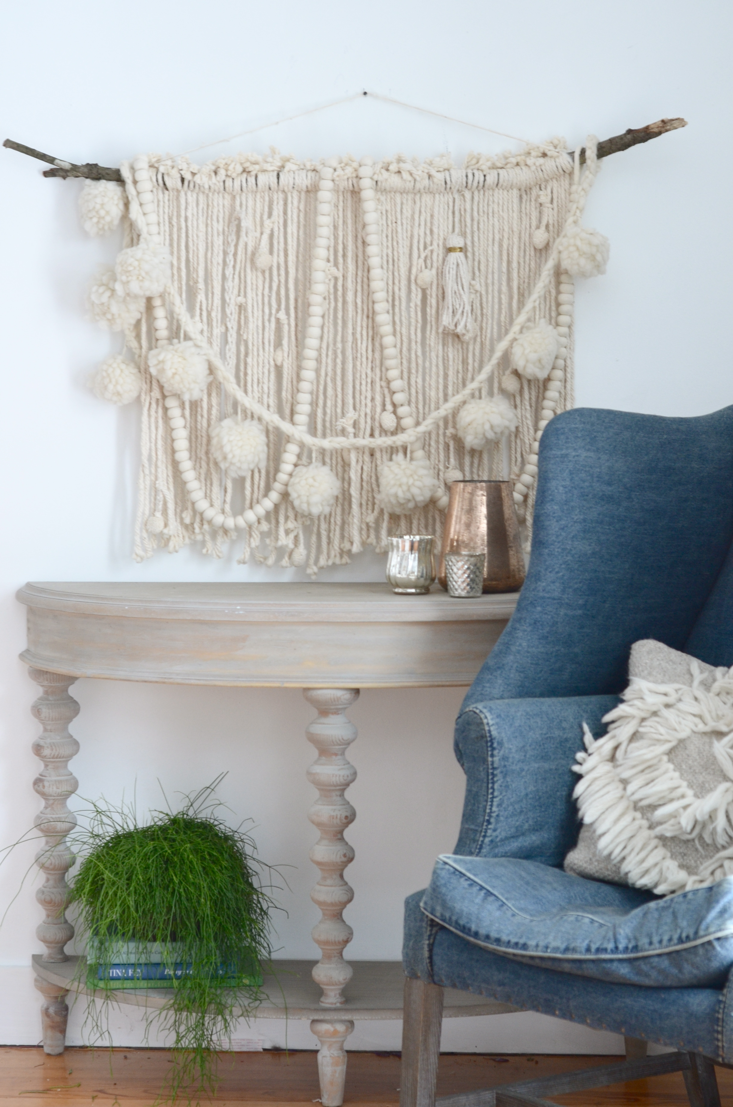 Make A Diy Wall Hanging Starting With A Mop