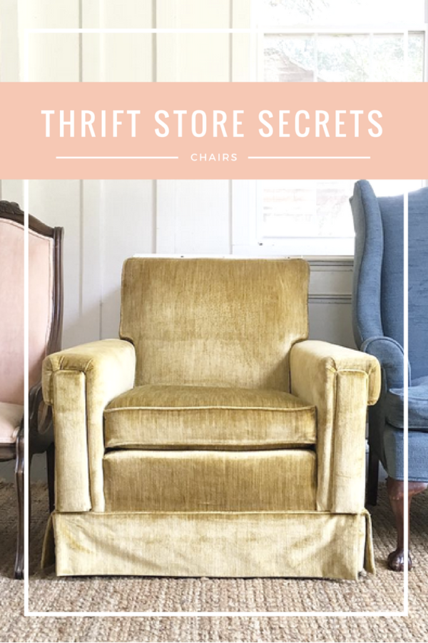 how to shop for chairs at thrift stores--the BEST tips!
